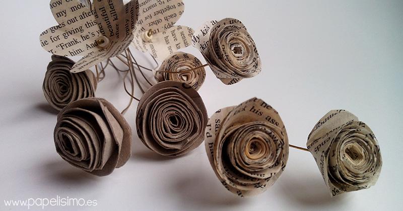 Flores hechas con rollos de papel higi nico papelisimo - Decoracion con rollos de papel higienico ...