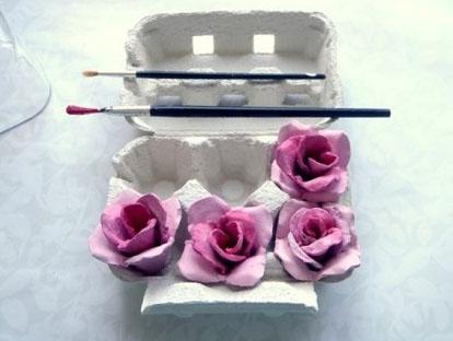 regalo dia de la madre flor papel con caja carton huevos 3