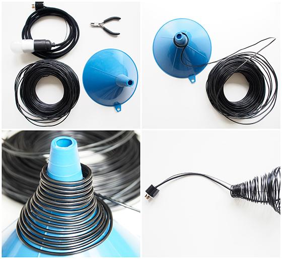 como hacer lámpara de alambre
