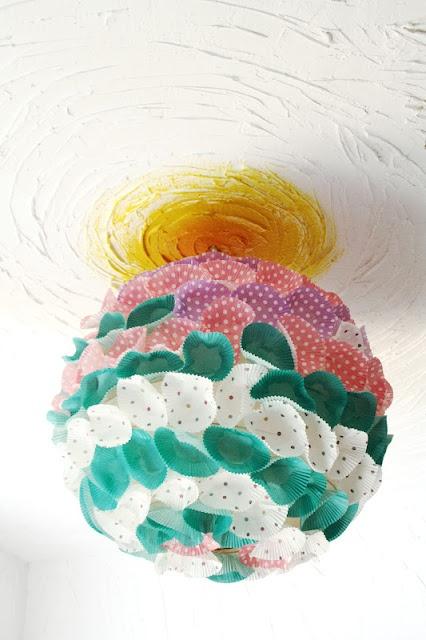 lampara cupcakes colores