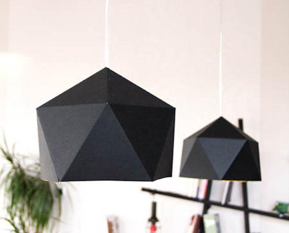 lampara origami plantillas