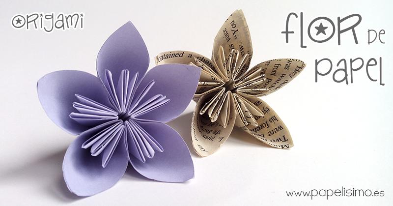flor de papel paso a paso origami facil