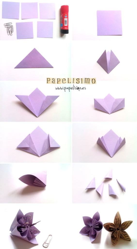 pasos flor origami