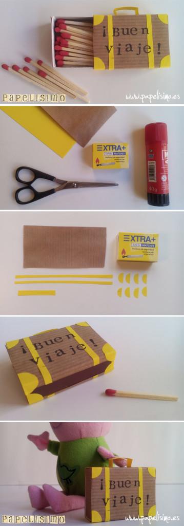 maleta caja de cerillas fosforos suitcase matches