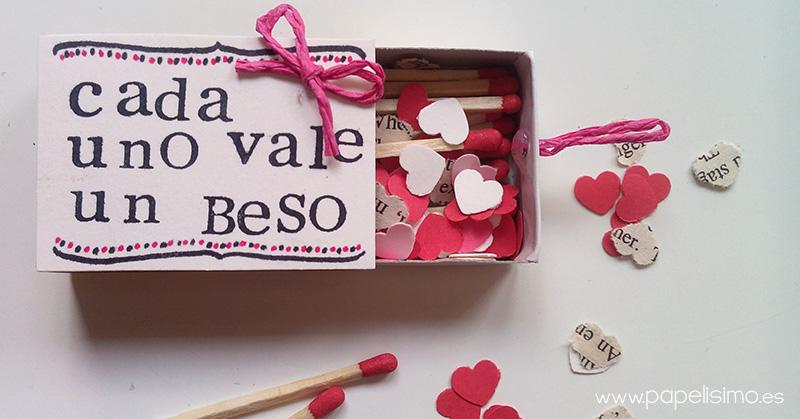 Caja de cerillas con corazones papelisimo - Manualidades romanticas para hombres ...
