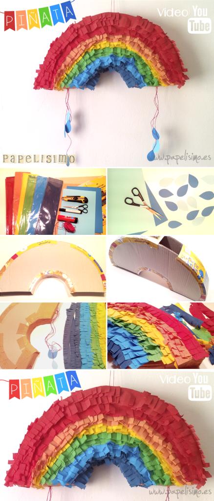 como hacer piñata de papel paso a paso con video DIY paper piñata