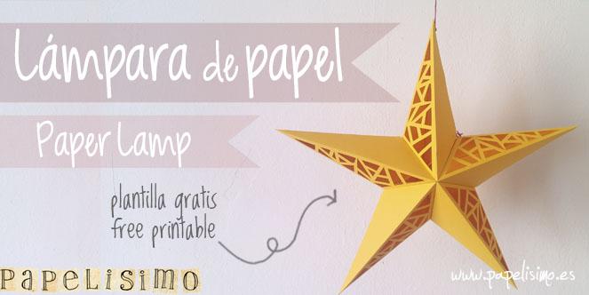 lampara papel estrella paper lamp star