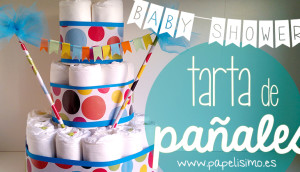 manualidades-faciles-tarta-pañales-torta-bebe-nappy-diaper-cake-babyshower