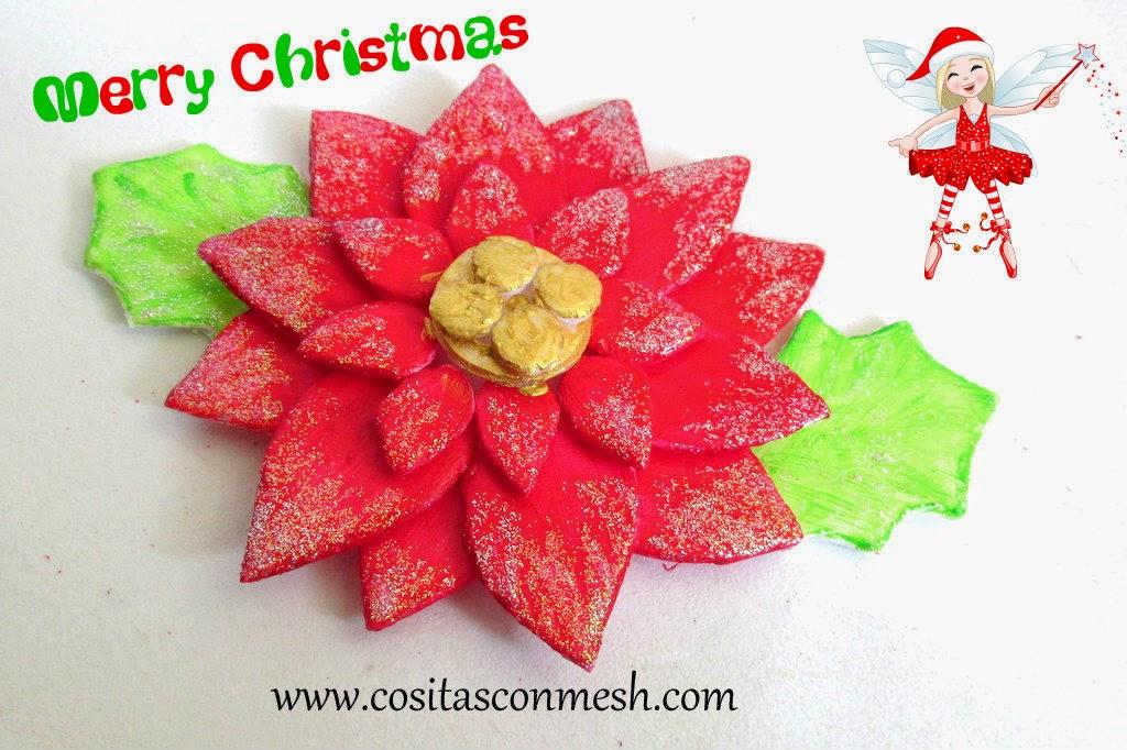 adorno navidad con bandeja corcho