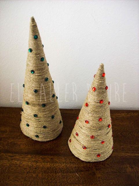 arbol de navidad con cuerda