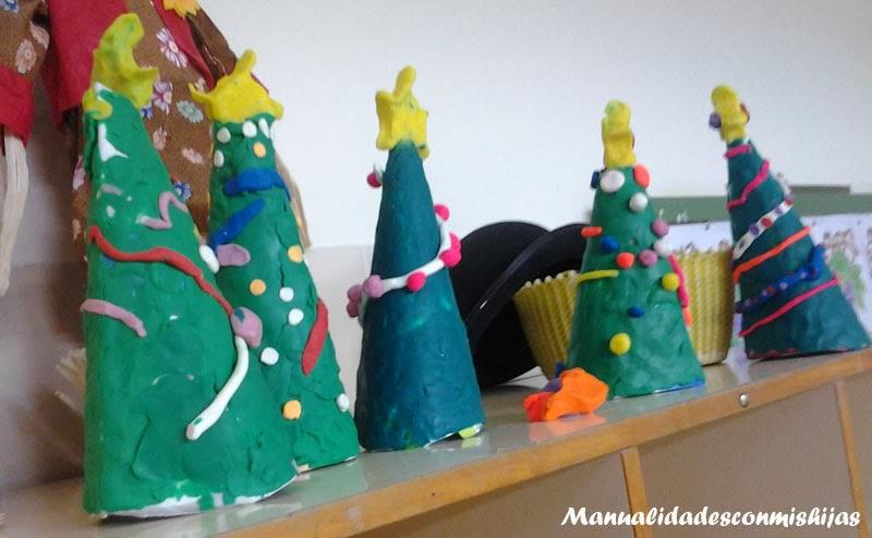arbol de navidad plastilina
