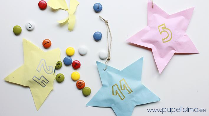 como hacer calendario de adviento niños en papel para Navidad advent calendar