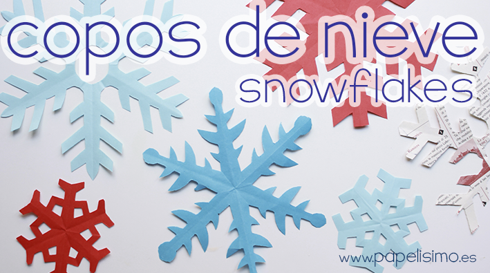 como hacer copos de nieve de papel facil paper snowflakes 2