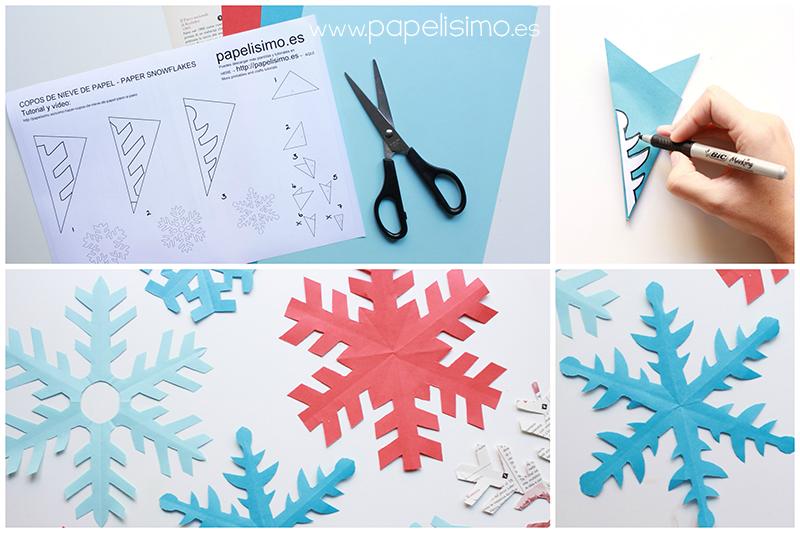 como-hacer-copos-de-nieve-de-papel