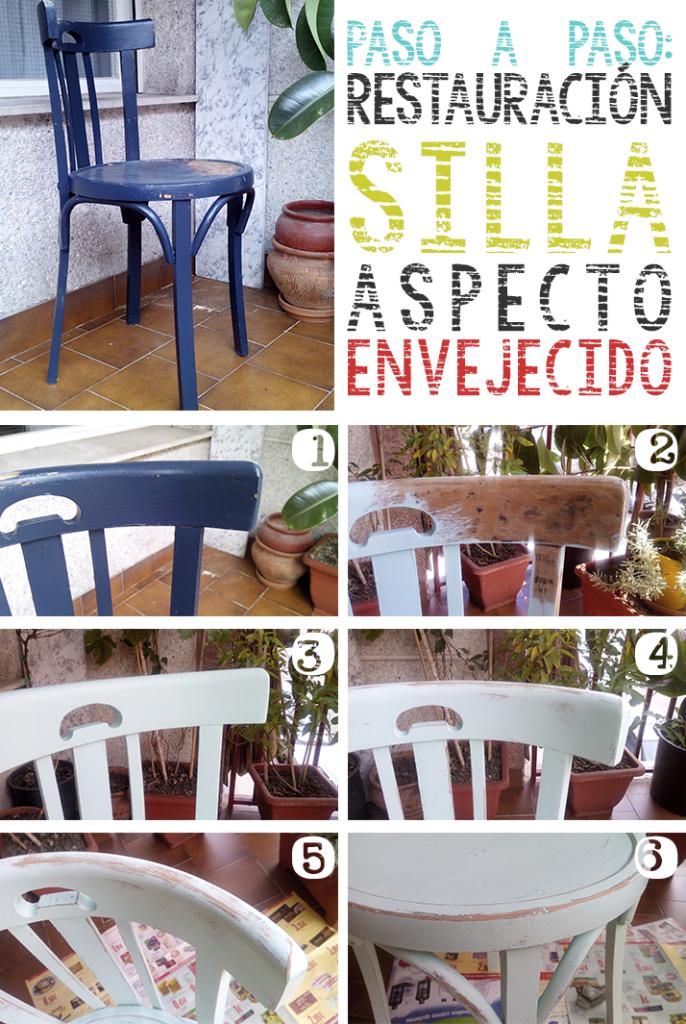 como restaurar muebles antiguos silla vintage envejecido upcycling
