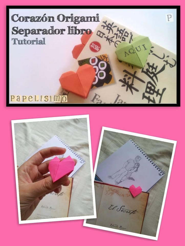 manualidades faciles corazon papel origami