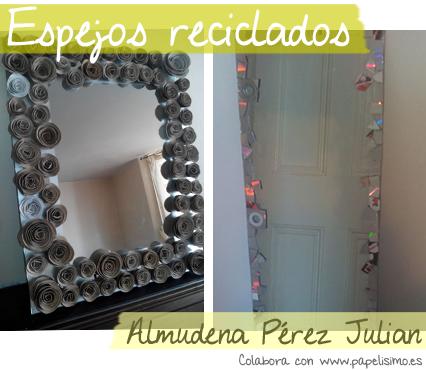 manualidades faciles decorar espejos reciclaje