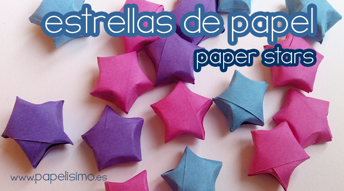 Estrellas de papel 3d papelisimo - Manualidades faciles navidad ...