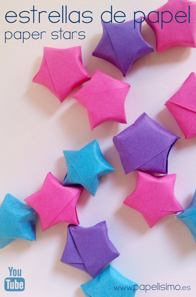 manualidades faciles navidad estrella tira de papel diy paper star christmas
