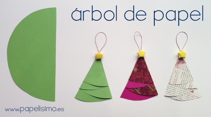 Cómo hacer adorno navideño: árbol de papel Navidad - PAPELISIMO
