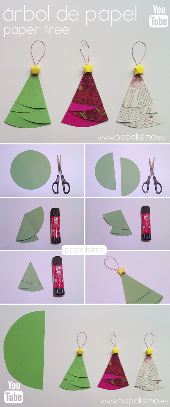 C mo hacer adorno navide o rbol de papel navidad - Como hacer adorno de navidad ...