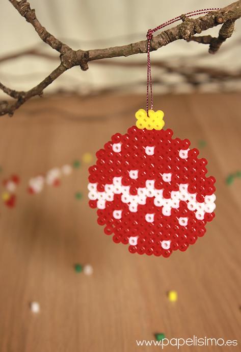 manualidades faciles niños diseño hama beads navidad