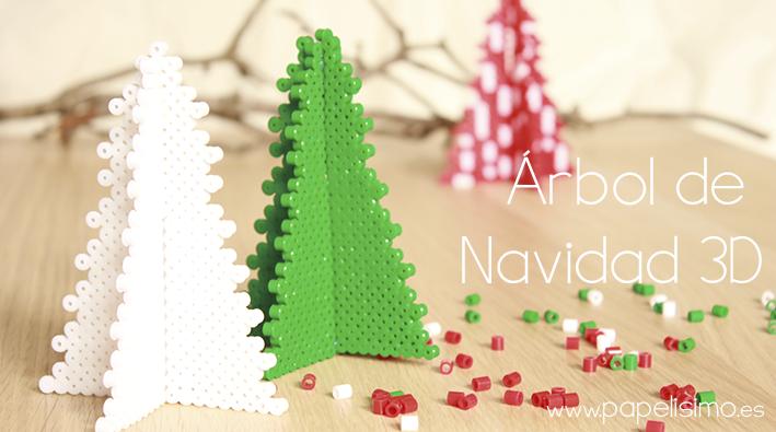 C mo hacer rbol 3d de navidad con tubitos tipo hama - Manualidades faciles de navidad para ninos ...