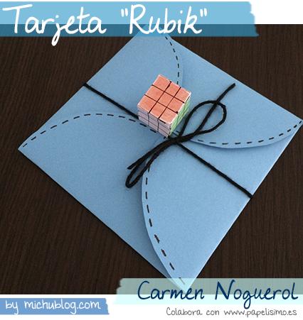 manualidades faciles tarjeta felicitacion rubik