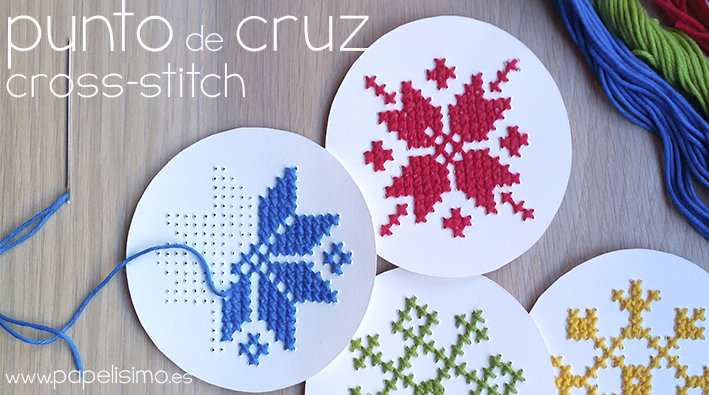 punto de cruz papel navidad papel paper cross stitch christmas