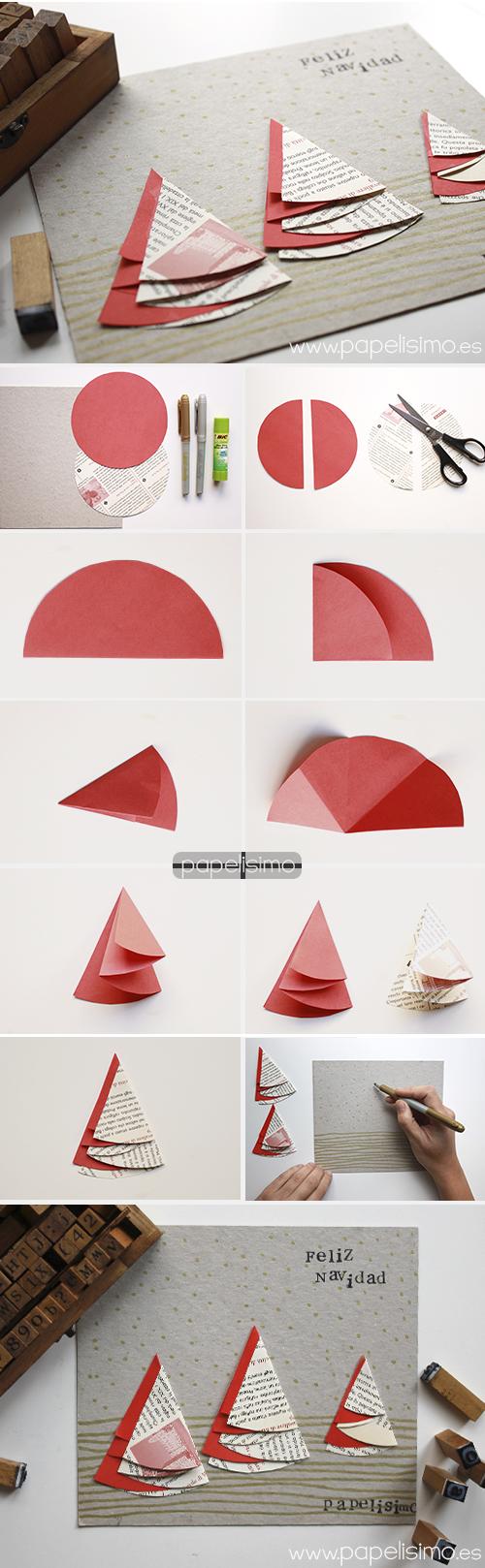tarjetas-de-navidad-hechas-a-mano-originales-arboles-de-papel-reciclado-scrapbooking-navideno