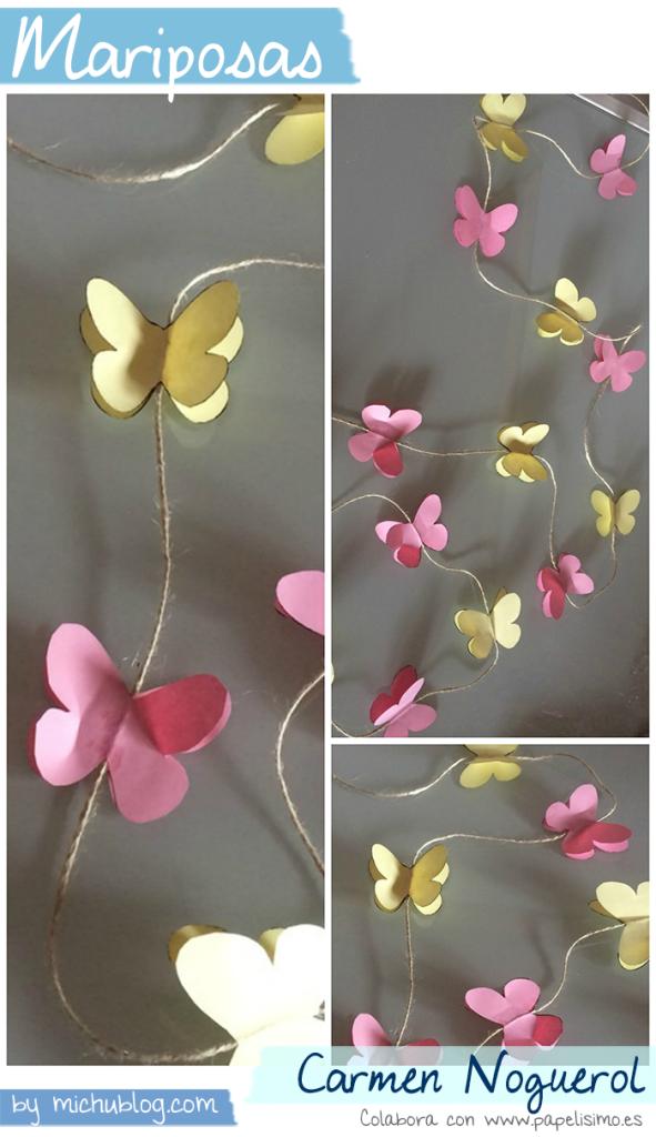 Manualidades papel mariposas Carmen Noguerol