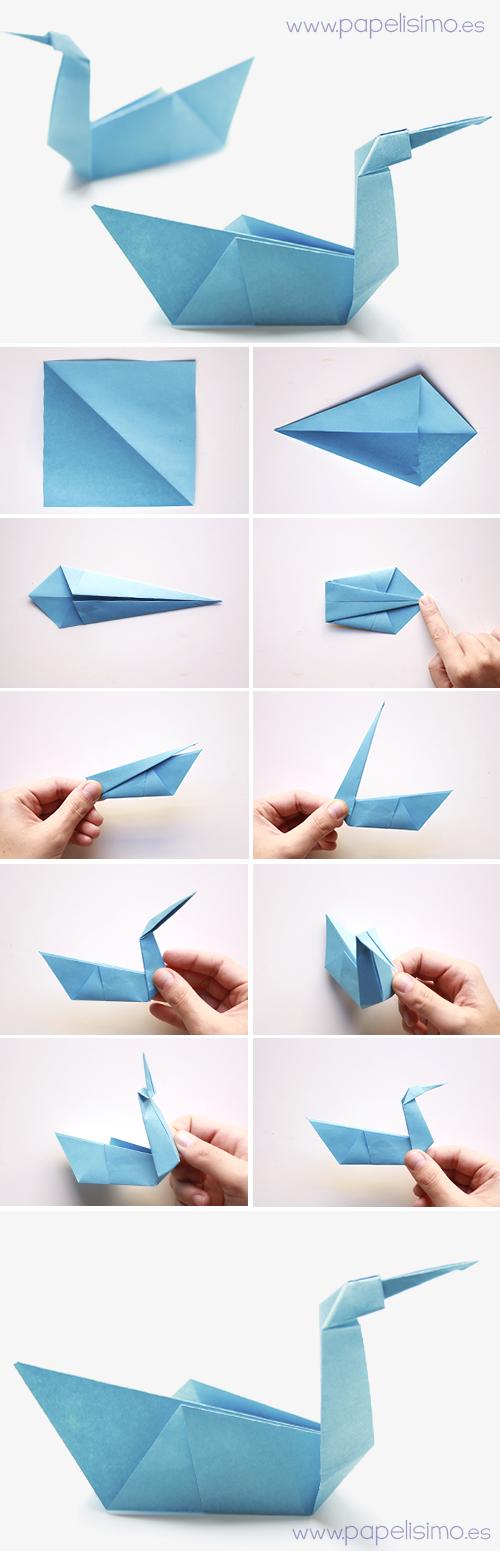 Pajaro de papel manualidades faciles Animales de Origami