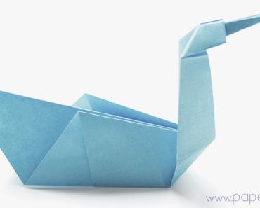 Pajaro-de-papel-manualidades-faciles-niños-Animales-de-Origami