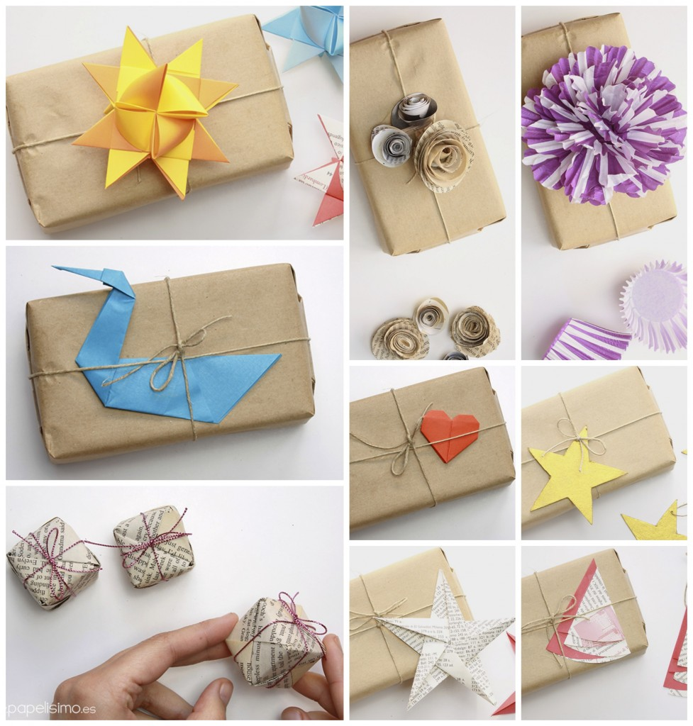 envolver regalos originales con papel embalar craft