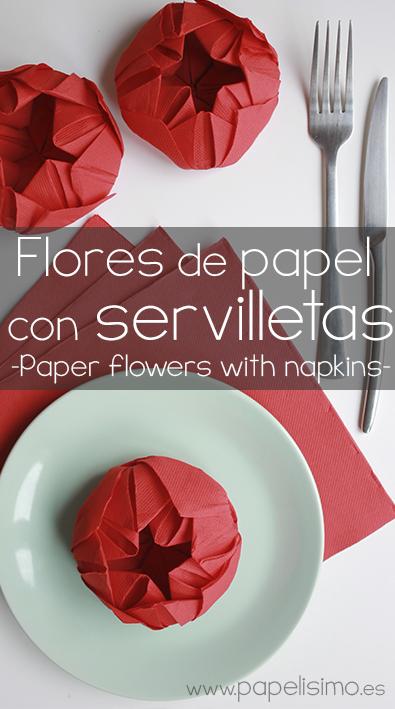 formas-originales-de-doblar-servilletas-de-papel-forma-de-flor-paper-flower-napkins