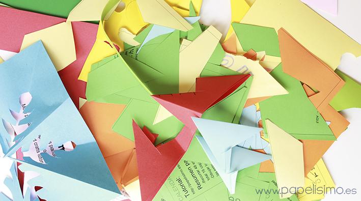 recortes arjetas navideñas fáciles para niños hechas a mano tiras de papel