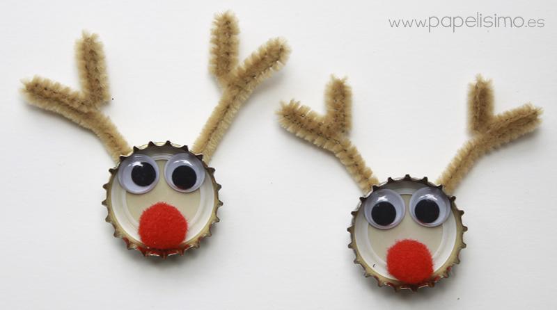 Adornos De Navidad Reciclados Reno Con Chapa De Refresco - Adornos-de-navidad-reciclados-como-hacerlos