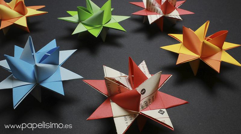 tutorial estrella de papel navidad origami froebel paper stars christmas