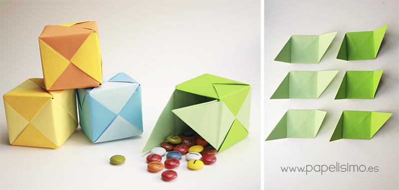 caja de regalo puzzle origami