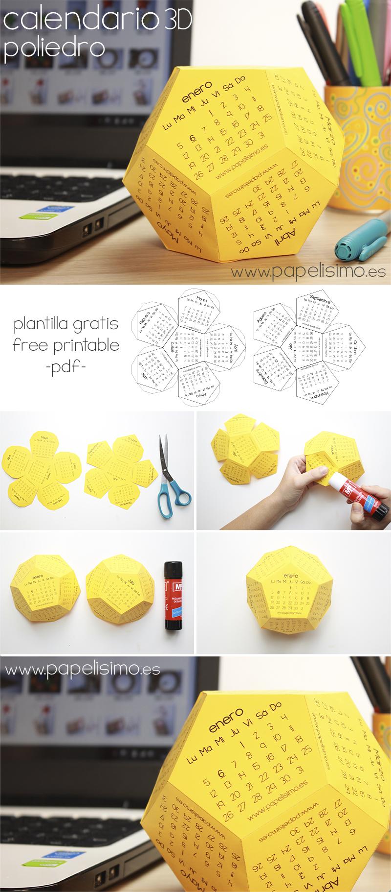 Calendario 2015 3d pdf gratis para imprimir papelisimo for Hacer tu casa en 3d
