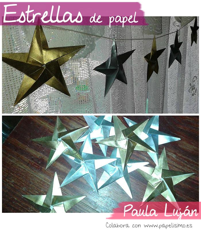 estrellas de papel origami