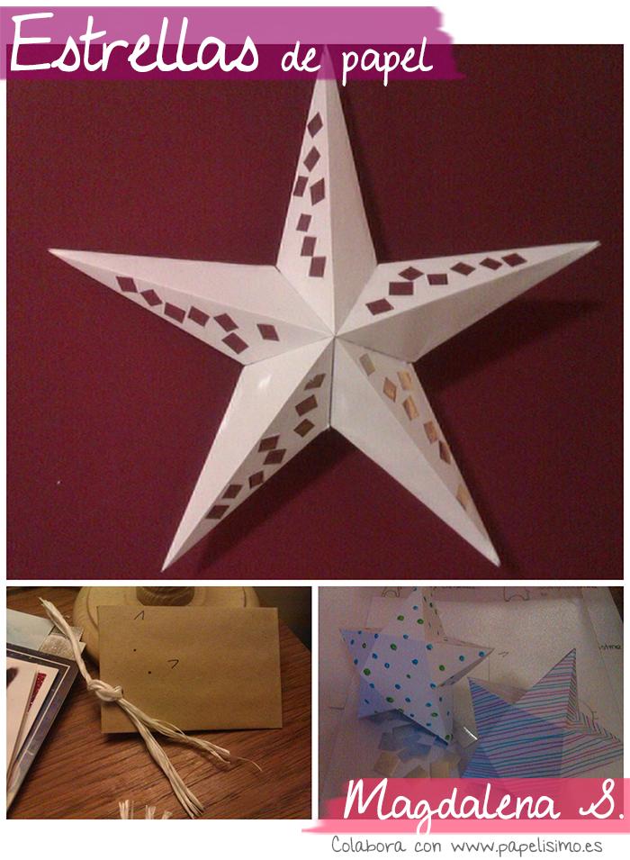 estrellas de papel regalo
