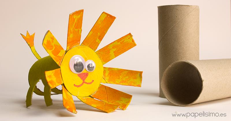 Animales le n manualidades con rollos de papel higi nico papelisimo - Manualidades rollos de papel higienico ...