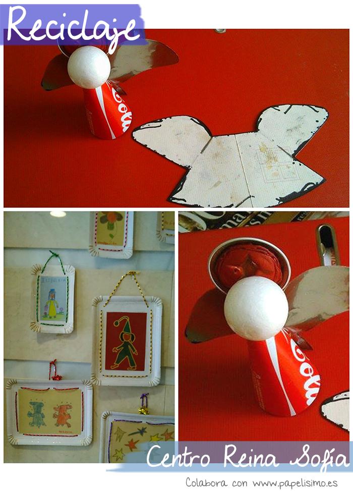 manualidades con reciclaje angel lata coca cola