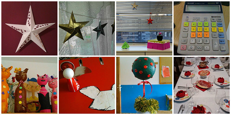 manualidades navidad con papel casa y oficina