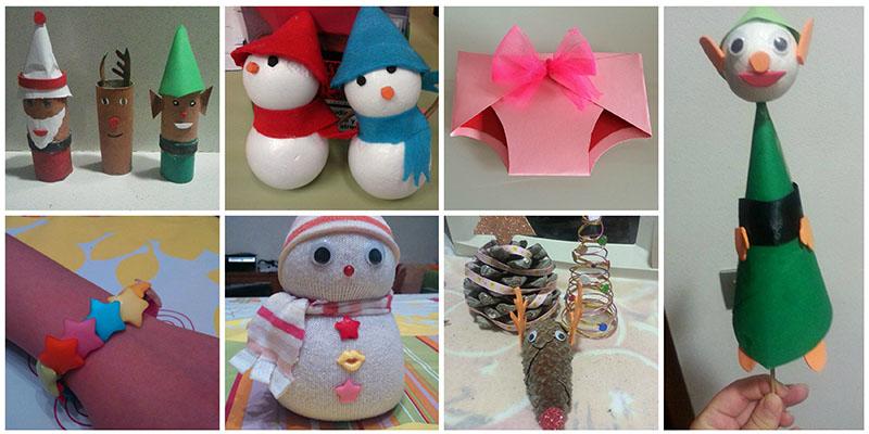 manualidades navidad con papel para niños