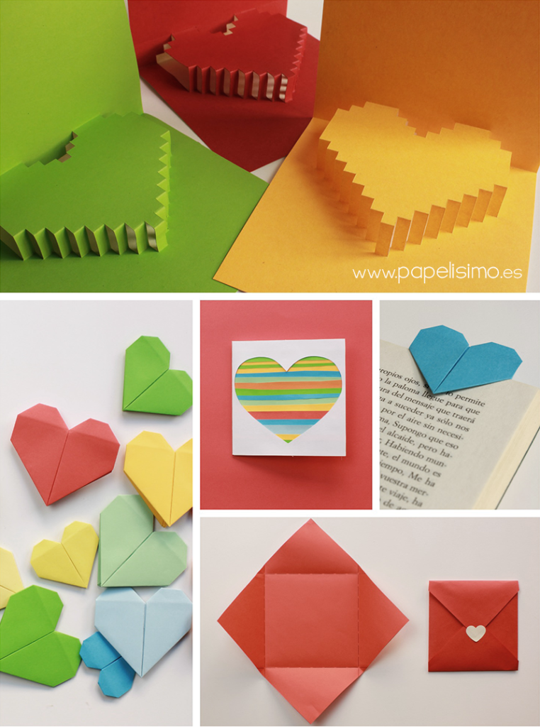 Tarjeta De Corazon 3d Para San Valentin Pop Up Papelisimo