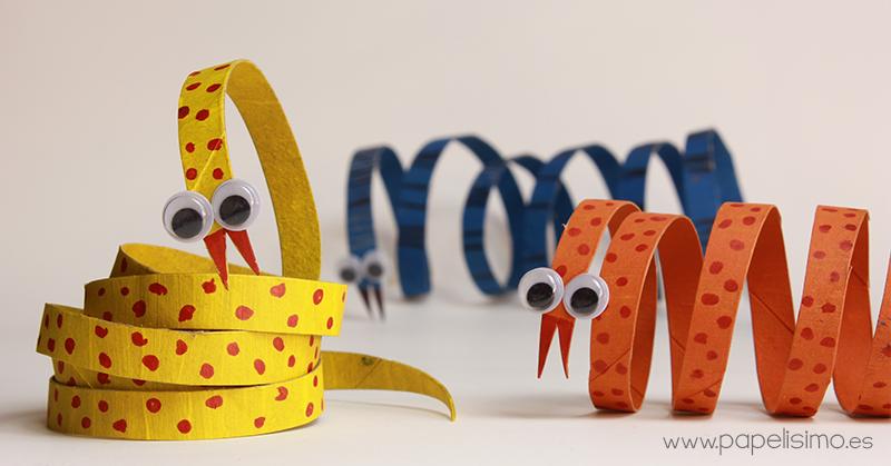 serpiente animales con rollos de papel higi nico papelisimo On animales con rollos de papel higienico
