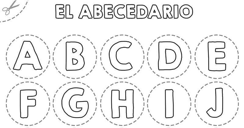 abecedario recortar imprimir plantilla