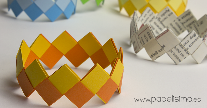 pulseras de papel paper bracelet